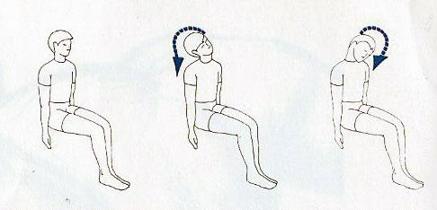 esercizio due per il rachide cervicale con flessioni laterali del collo